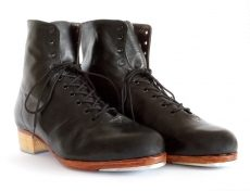 Customisable handcrafted tap shoe bespoke tap dance shoe boot. Tap dance boot. Handmade.