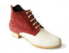 Customisable handcrafted tap shoe boot handmade tap shoes. Tap boots for tap dancers