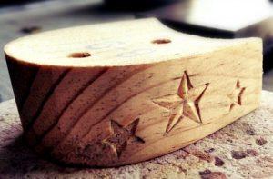 Bespoke tap shoe heel engraving. bespoke handmade tap shoe heel engraving