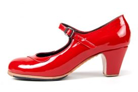 Customisable handcrafted tap shoe heeled. ladies heeled tap dance shoe red